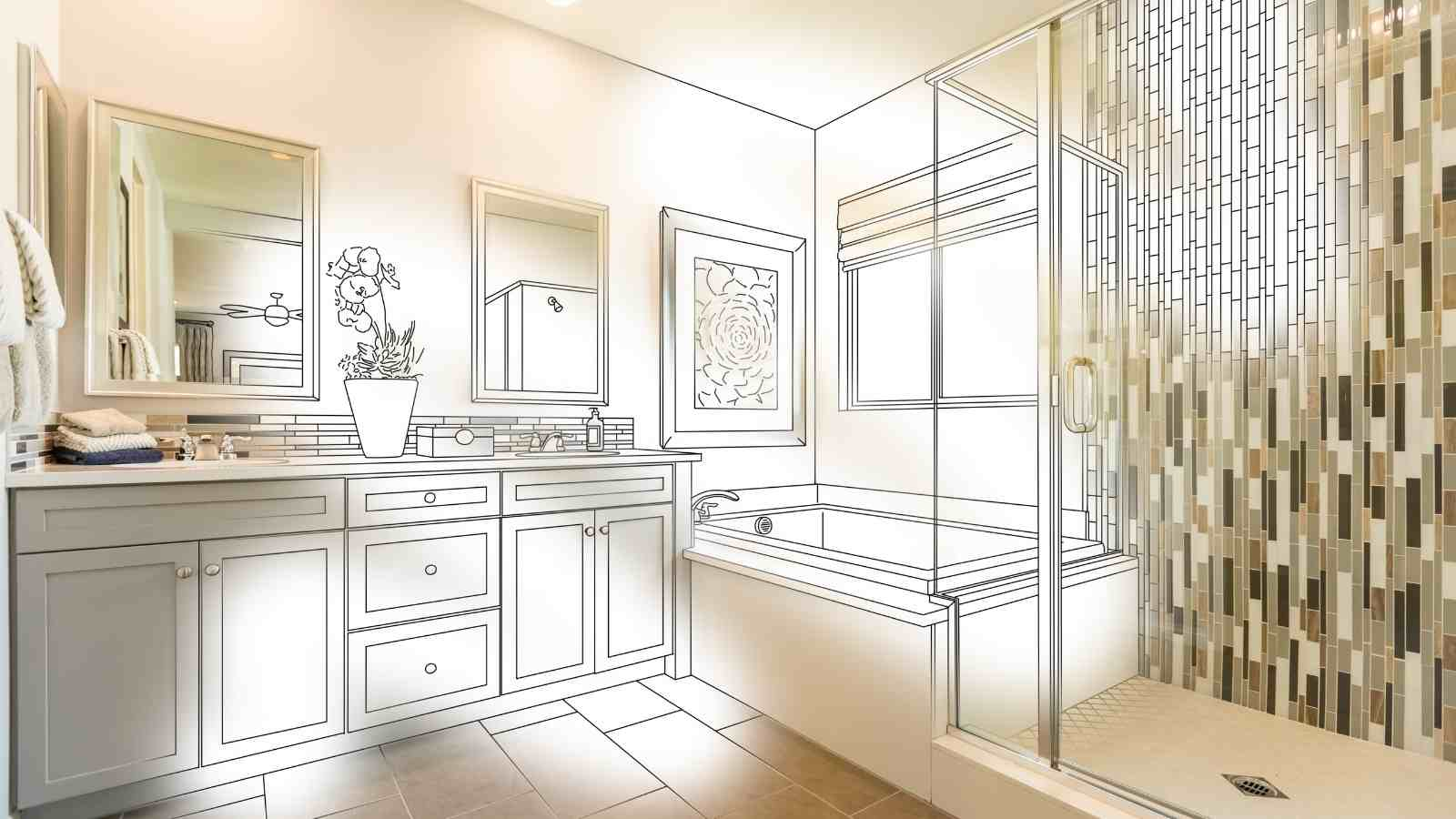 35 amazing bathroom remodel diy ideas that give a stunning for Guest bathroom remodel ideas