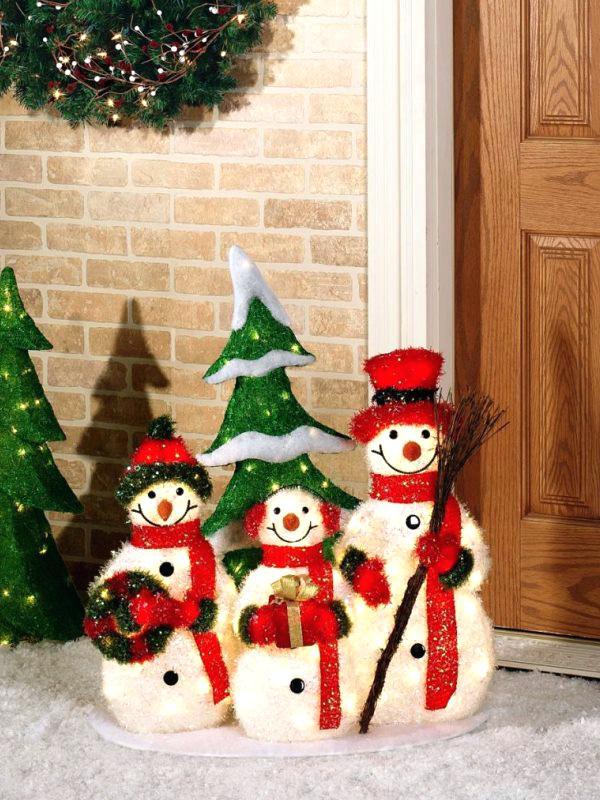 Snowman Christmas Decorations. - 30 Wobbly Snowman Christmas Decorations Ideas For Your Kids To Have