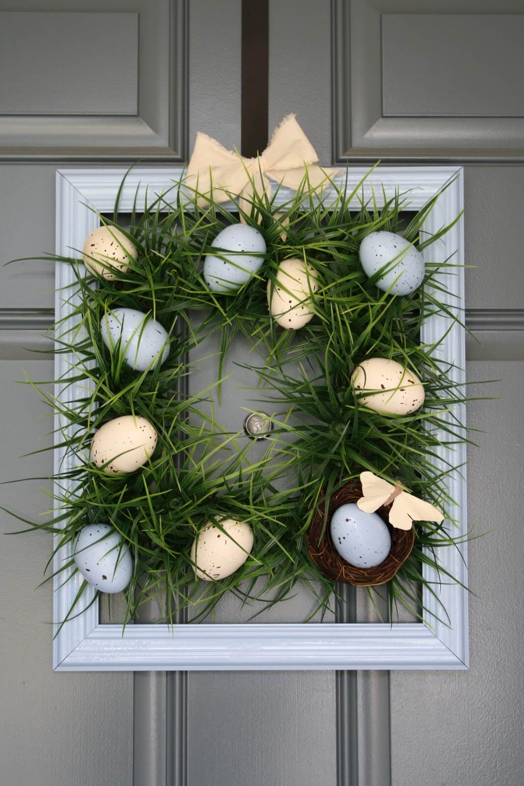 Easter Eggs and Grass Door Decoration