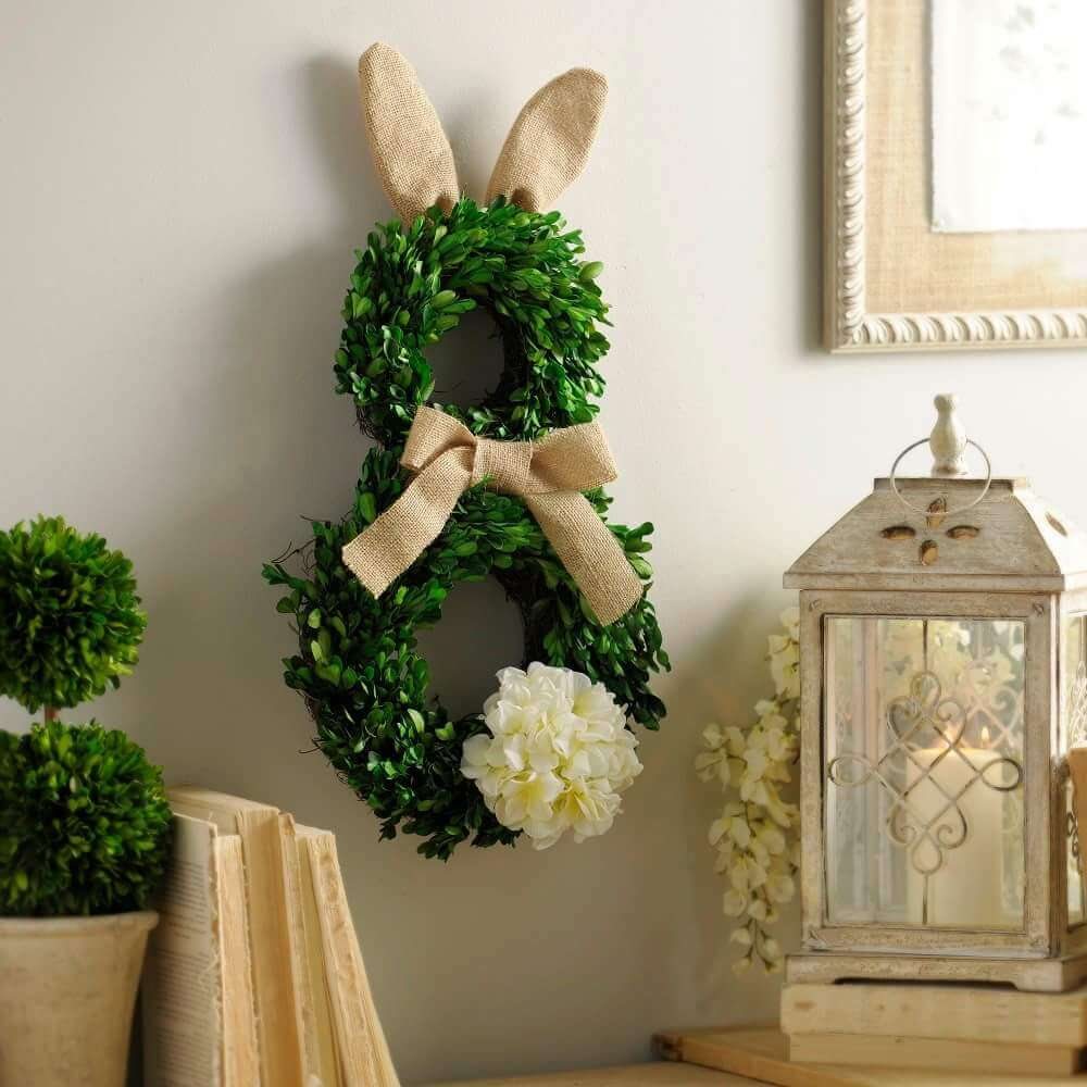 Greenery Easter Bunny Wreath