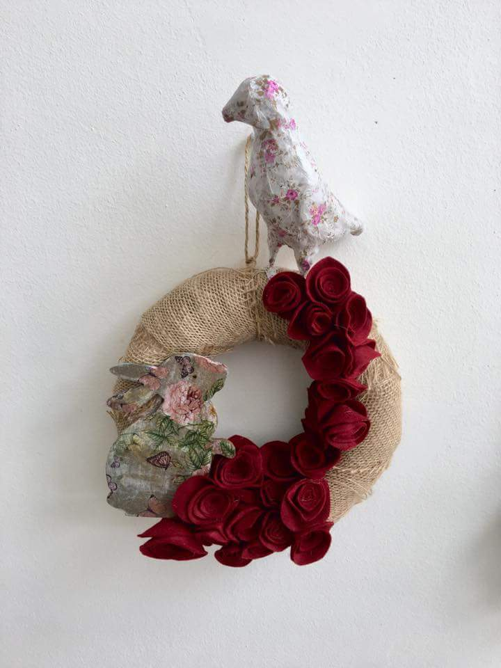 Material Made Wreath Décor