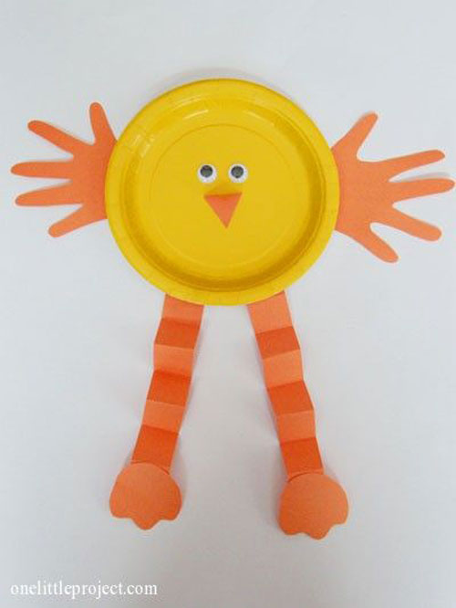 Easter Kids Craft Ideas Part - 41: Baby Chick Paper Plate Craft ...