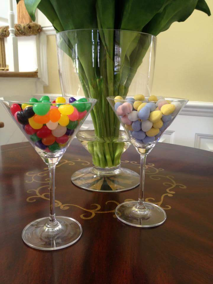 Balloons In A Cocktail Glass For Easter