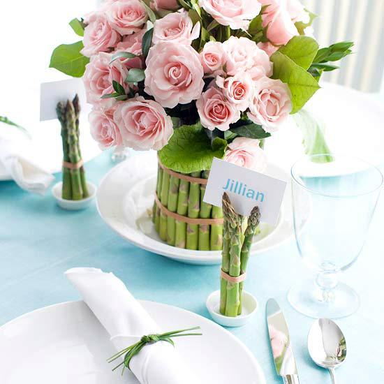 Beautiful Easter decoration with roses