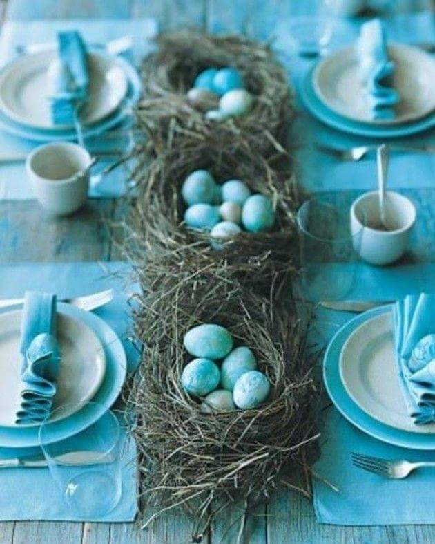 Blue Is The Color Of Easter For Dining