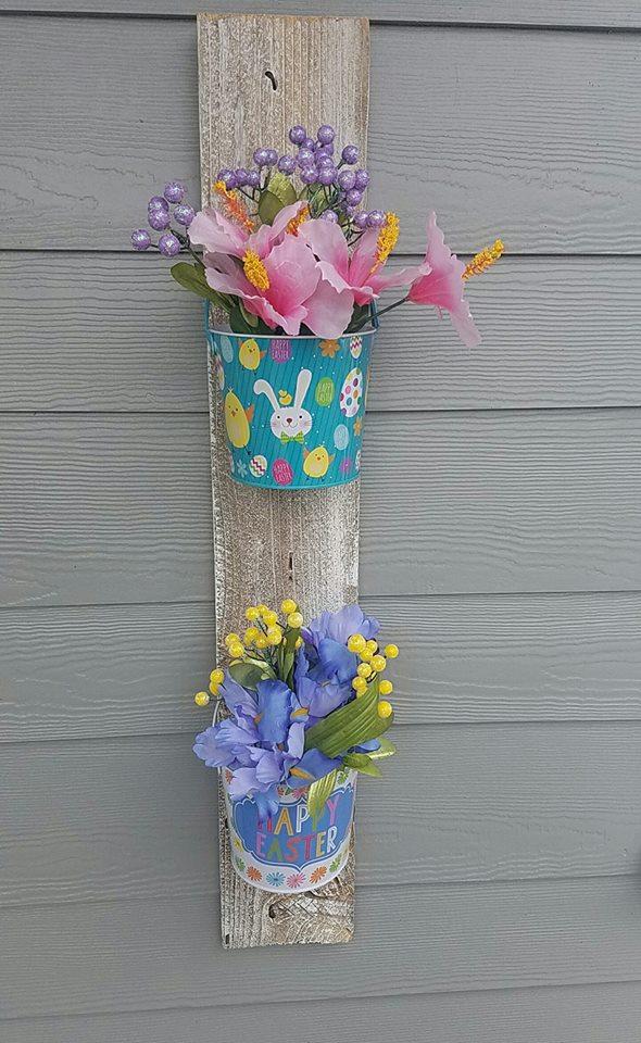 Bucket Easter Porch Decorating Idea