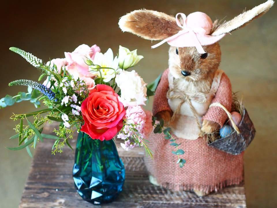 Bunny Easter Flower Arrangement