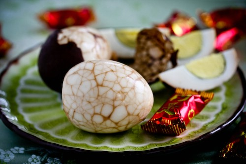Chinese Marbled Tea Easter Eggs