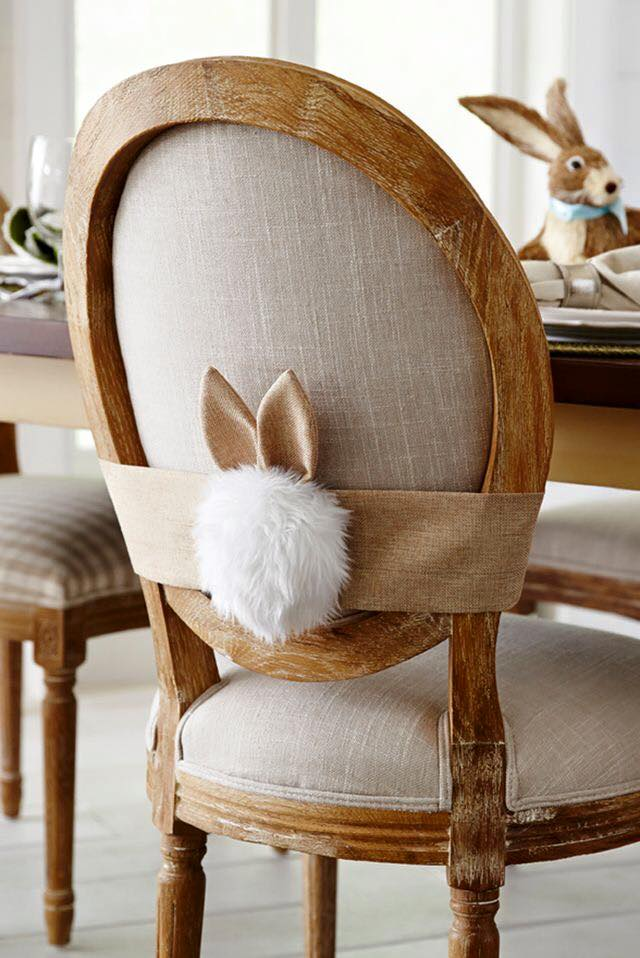 Cottontail with Ears for Decorating the Chair