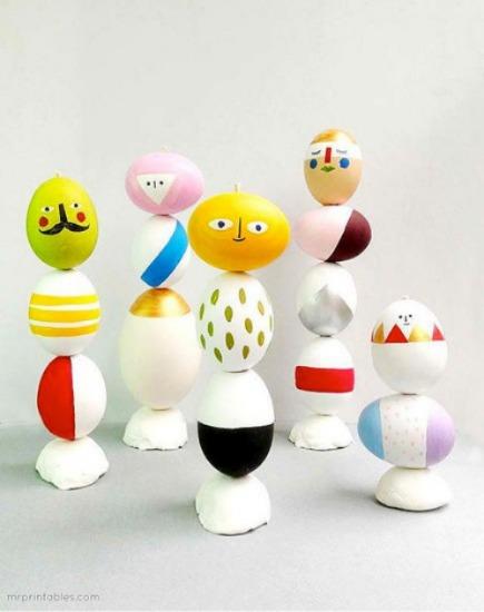 DIY Easter Egg Mix & Match Sculptures