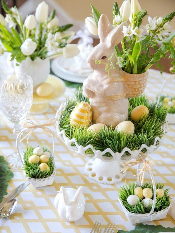 DIY table setting ideas for throwing a charming Easter dinner party