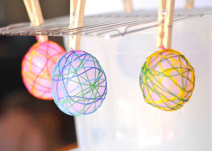 Drying string balloons