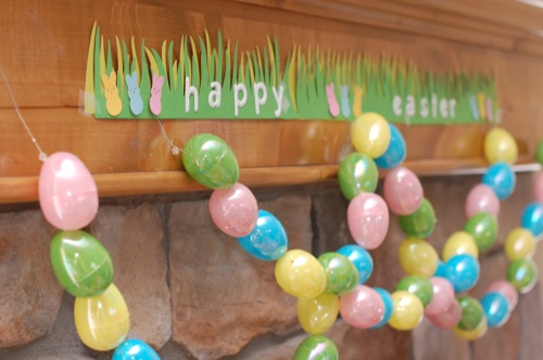 Easter Bunting with Plastic Eggs
