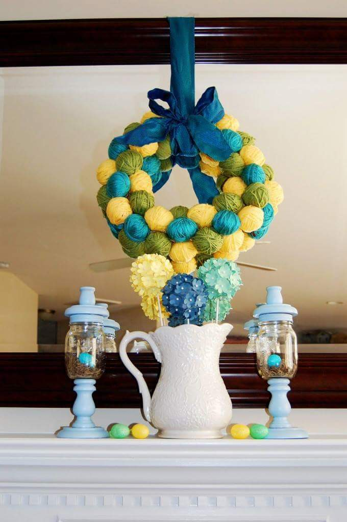 Easter Egg Wreath For A Colorful Celebration