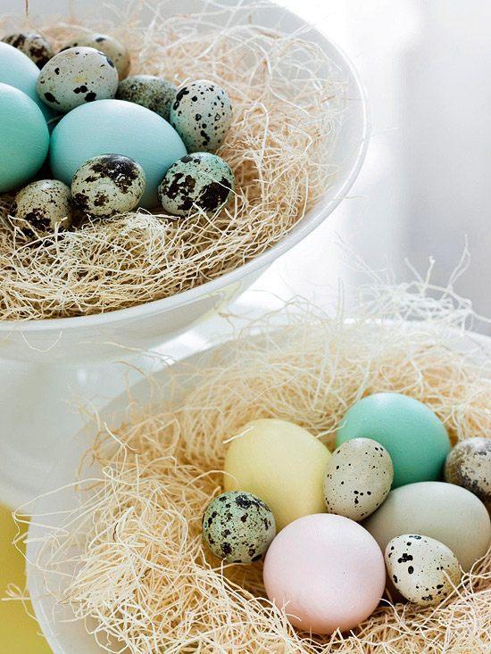 Easter Eggs Blue Sea in porcelain bowls