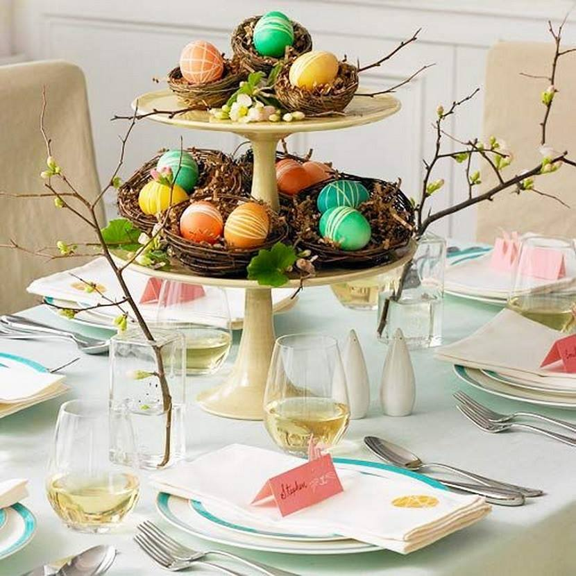 Eggs Easter Table Decorations