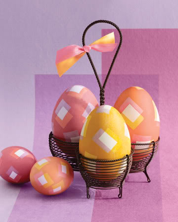 Electrical Tape Square Patterned Eggs
