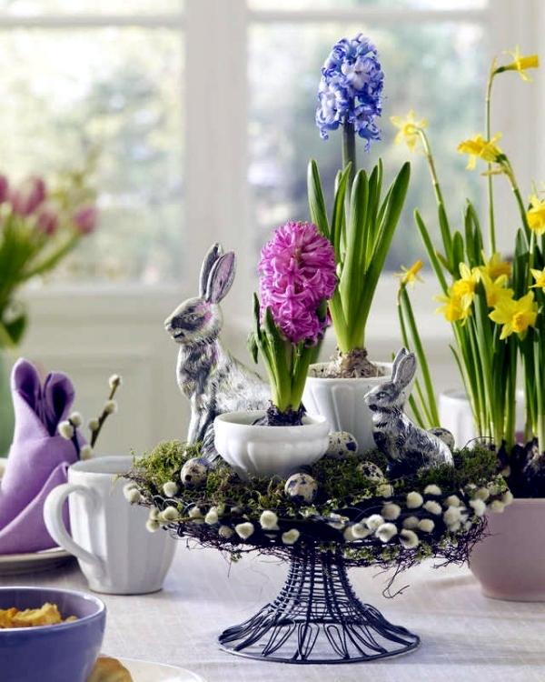 Evoke a wonderful table decoration for Easter