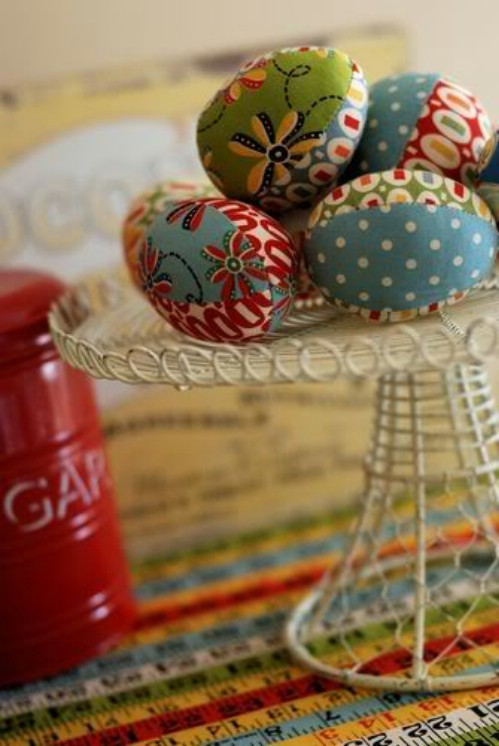 Fabric Covered Easter Eggs
