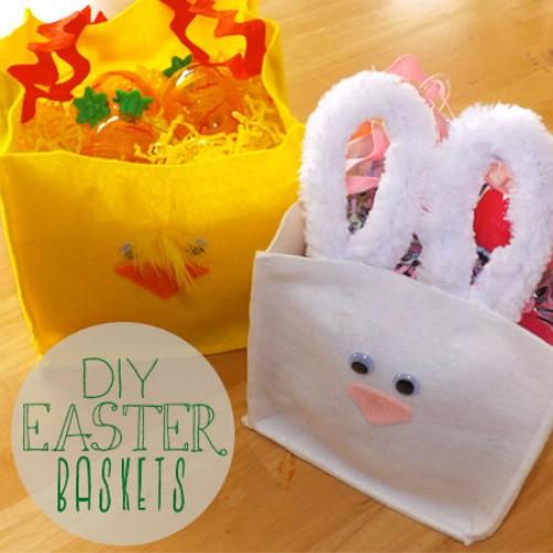 Felt Animal Easter Baskets