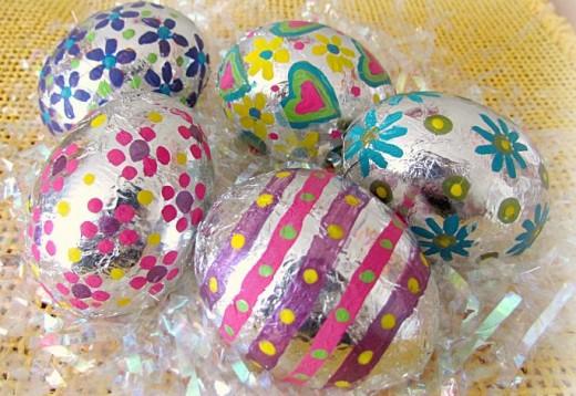 Foil Covered Eggs