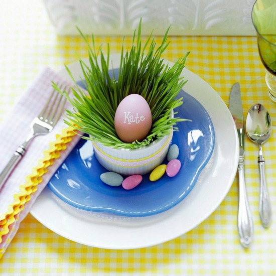 Funny Easter decoration combines all the features that are typical of spring