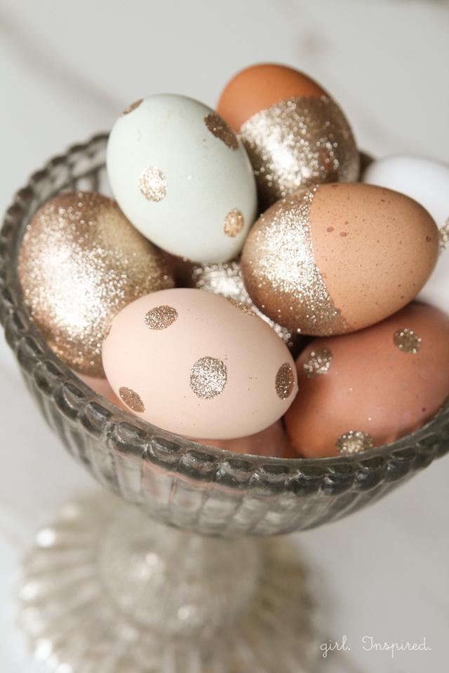 Glitter Easter Eggs from The Girl Inspired
