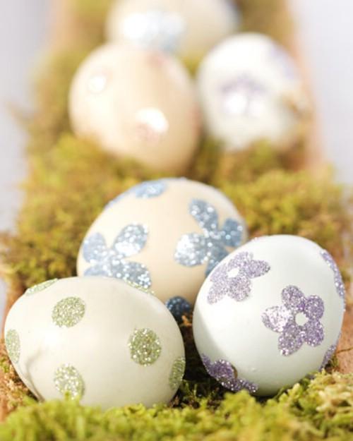 Glittery Sticker Easter Eggs