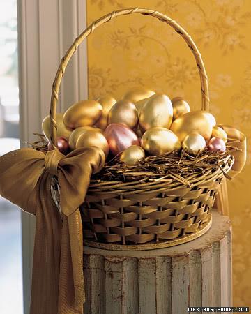 Gold Leaf Metallic Eggs