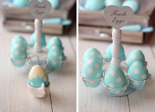 Gorgeous Polka Dot Easter Eggs