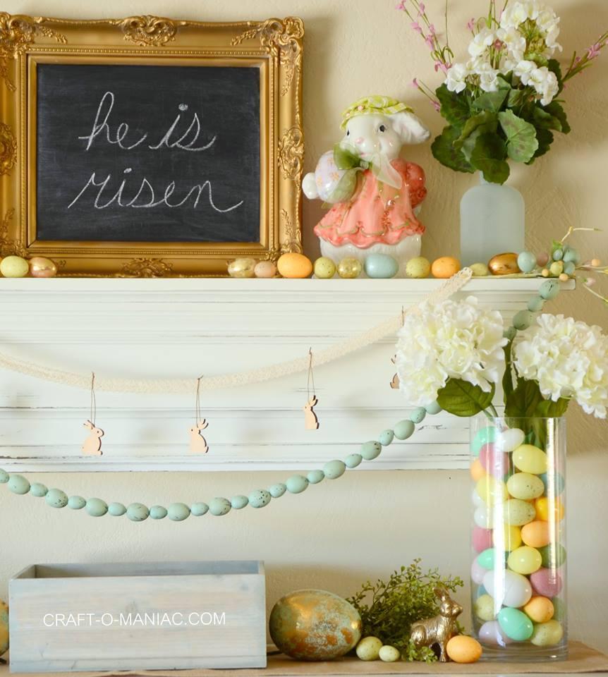 Living Room Easter Decorating