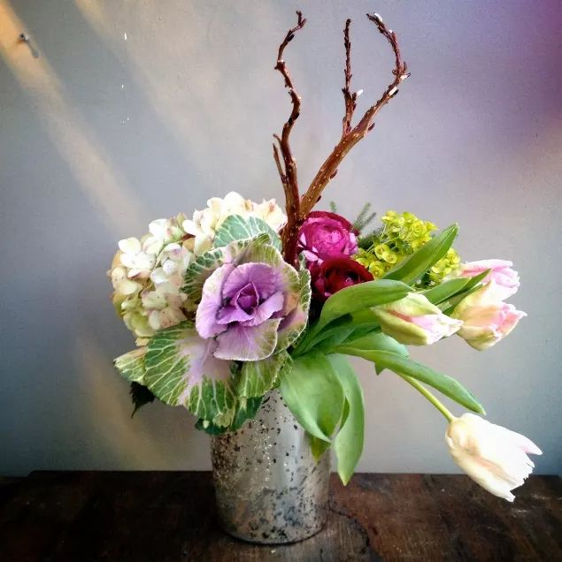 Mini Vase With Flowers For Easter