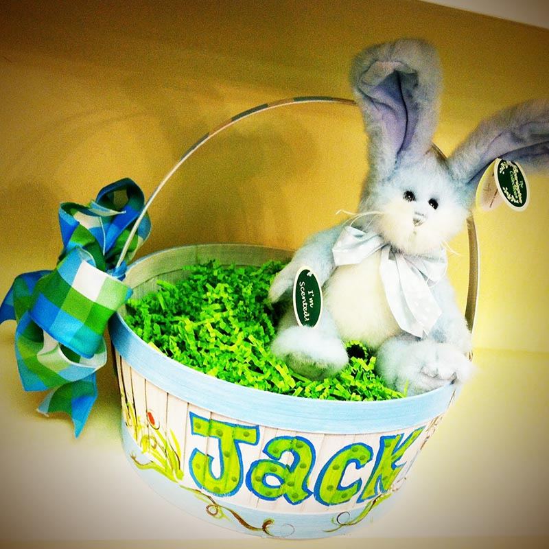 Painted Easter Bunny Basket