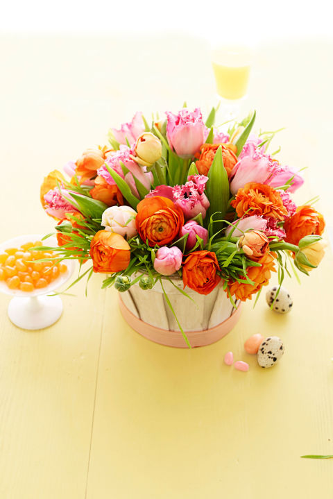 Parrot Tulips and Ranunculus