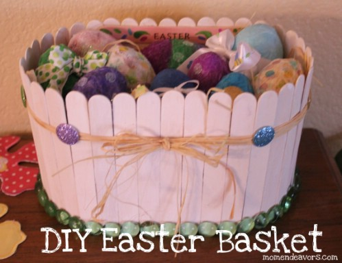 Popsicle Stick Easter Baskets