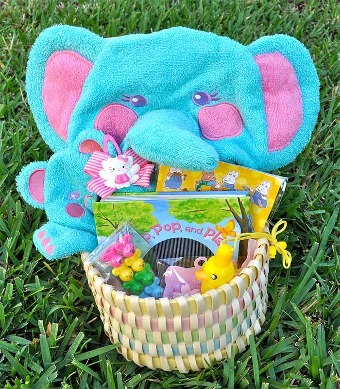 Stuffed Toy Easter Gift Basket