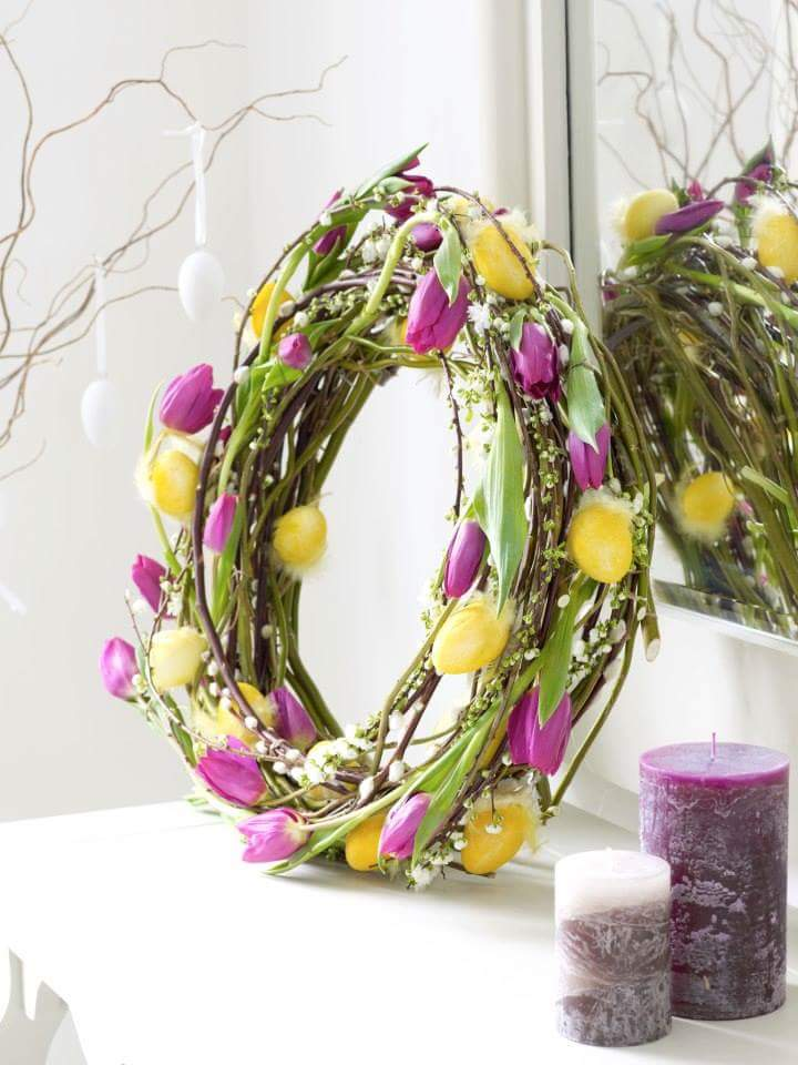 Tulip Wreath For An Amazing Easter Look