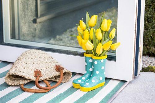 Tulips by the Door