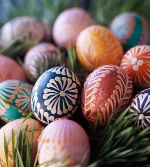 Wax and Dye Pysanky Eggs