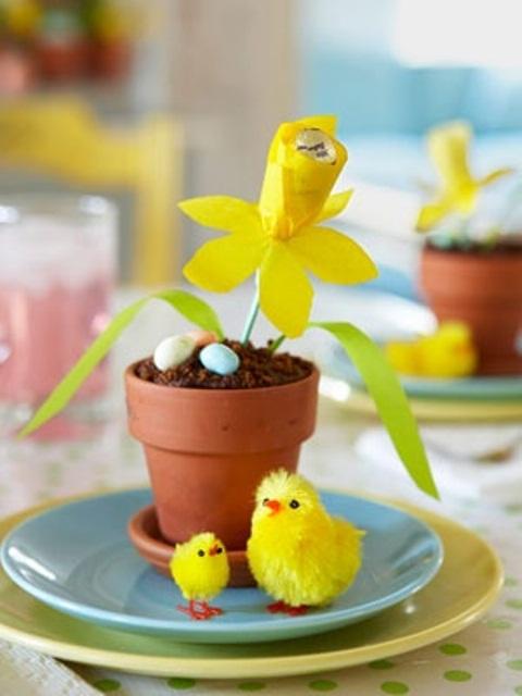 Yellow Easter Flower Arrangements