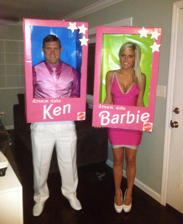 #4 Barbie u0026 Ken via at Pinterest  sc 1 st  Detectview & 50 Best Halloween Costume Ideas To Try This Year u003e Detectview