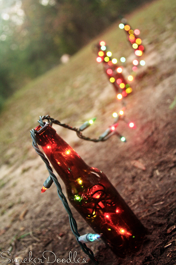 5 beer bottle christmas lights via snackerdoodles