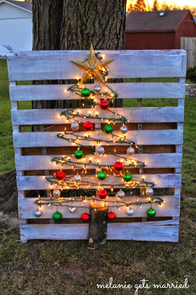 outdoor christmas decorations diy christmas tree
