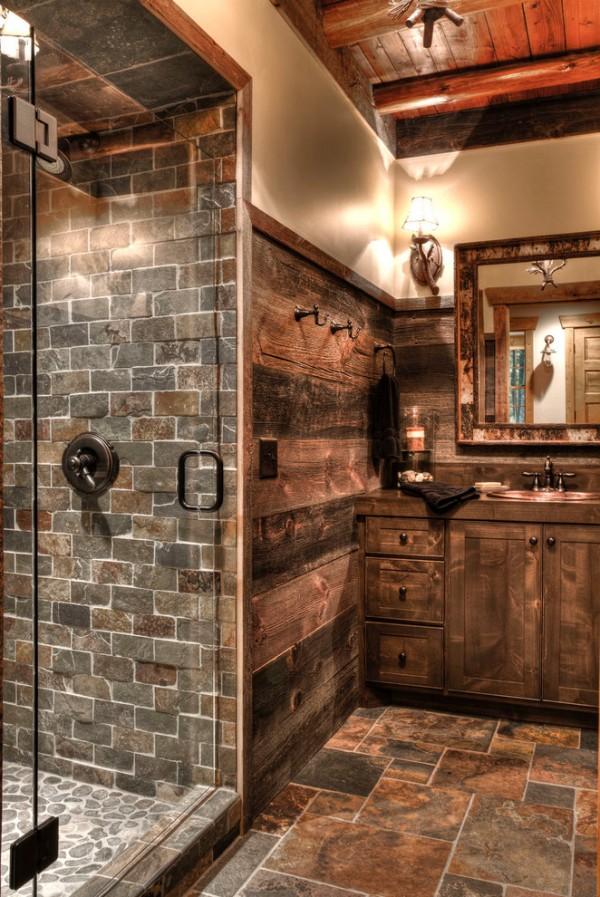 50 Relaxing Rustic Style Bathroom Ideas > Detectview on fixer upper bathroom designs, rustic cabin bathroom shower, rustic industrial bathroom design, nature bathroom designs, rustic shower designs, bathroom bathroom designs, rustic kitchen designs, garage bathroom designs, rustic farmhouse bathrooms, rustic country bathroom vanity cabinets, master bathroom designs, natural stone bathroom designs, rustic style bathroom sinks, rustic stone bathrooms, rustic small bathroom design, rustic looking bathrooms, rustic bathroom walls, rustic style bathroom mirrors, rustic corrugated metal bathroom, new home bathroom designs,