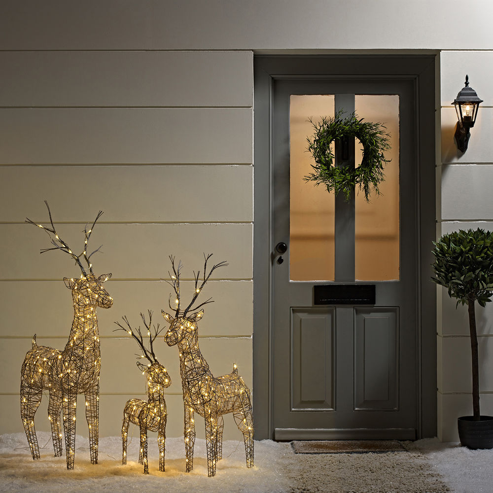 18 winter elegance via aolcouk - Lighted Christmas Reindeer Outdoor Decorations Uk