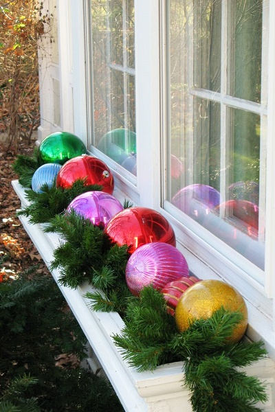 diy outdoor christmas decorations wonderful window sills