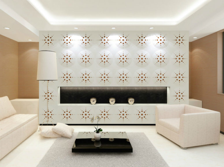 Wall Coverings Dimensional And Colorful Perforated
