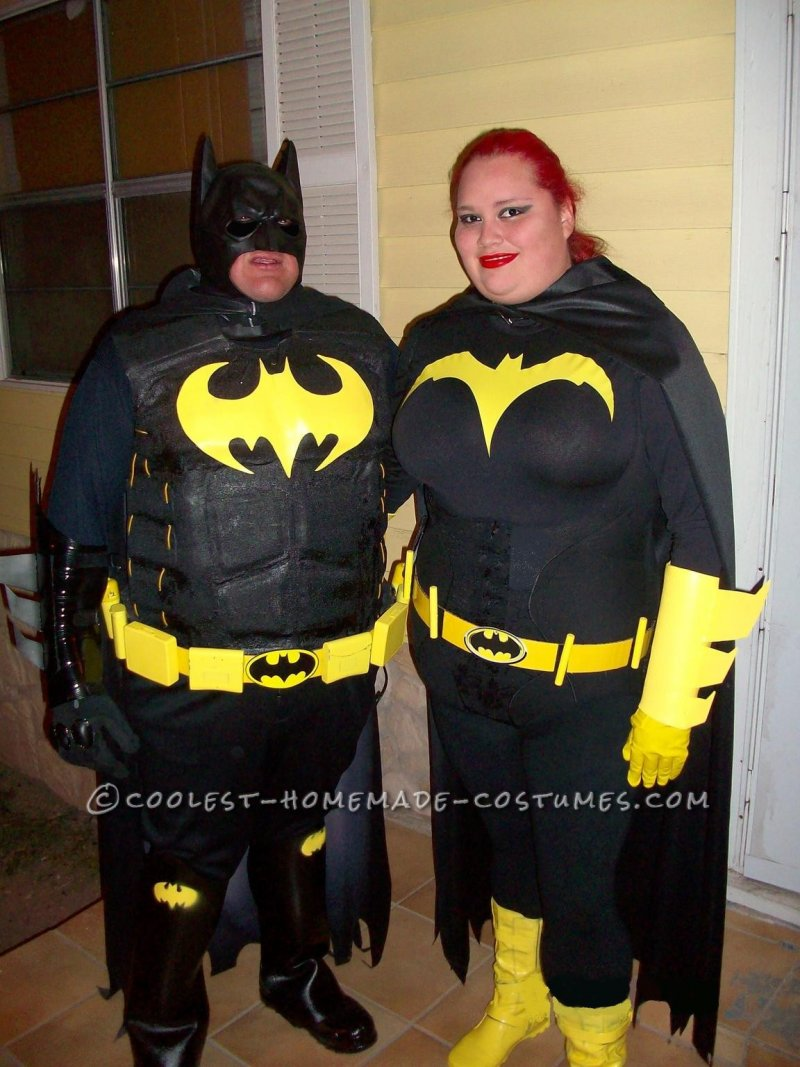 c38aff454c80 Caped-Crusader Batman And Batgirl Couple Halloween Costumes. Sc 1 St  Detectview