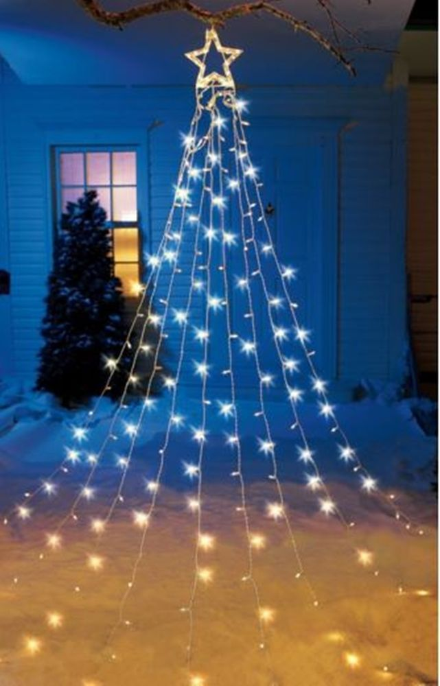 cool 12 ft led christmas tree - Diy Lighted Outdoor Christmas Decorations