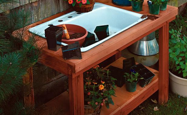 12 Potting Bench Plans Which Are Easy Peasy And Really Fun